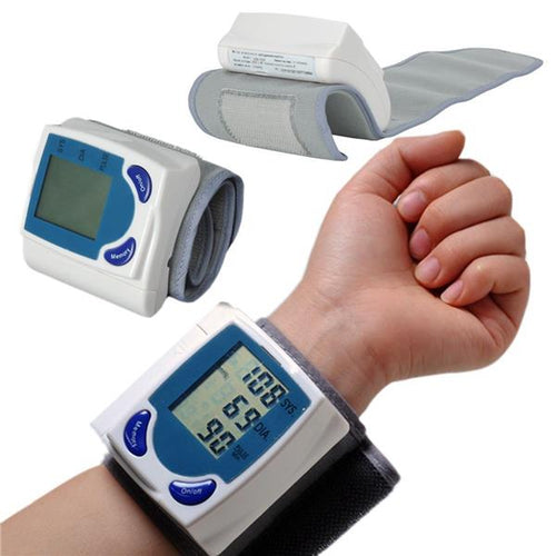 Modern Tech™ Digital Wrist Blood Pressure Monitor & Pulse Rate Meter