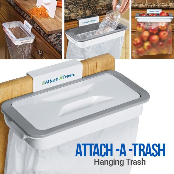 Attach-A-Trash Hanging Trash Bag Holder (BUY 1 TAKE 2)
