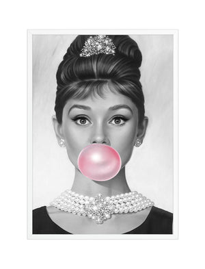 Audrey Hepburn Bubble Gum Art