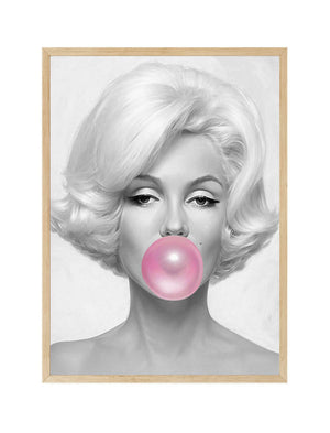 Marilyn Monroe Bubble Gum Art