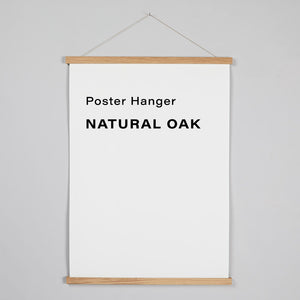 Poster Hanger - Natural Oak