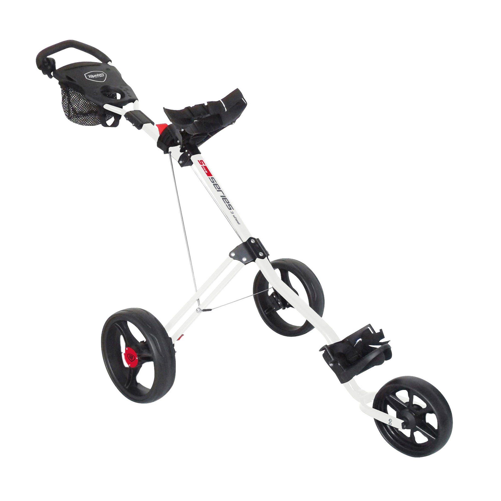 Masters 5 Series 3 Wheel Trolley (White)