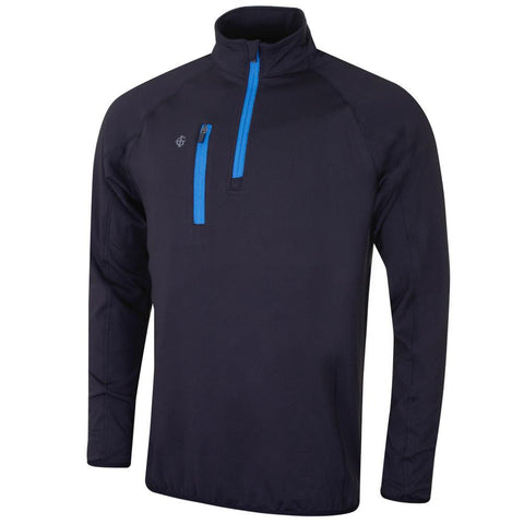 Island Green Mens Golf 2019 Contrast Mid Zip Thermal Sweater