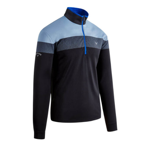 Callaway Chest Block LS 1/4 Zip Pullover Caviar/Surf the Web
