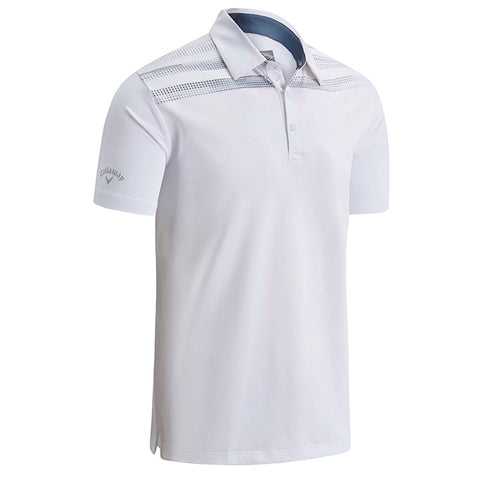 Callaway Shoulder Print Polo - White