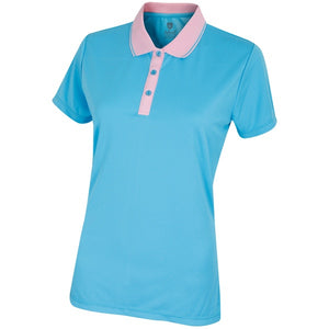 Island Green Contrast Placket Ladies Polo
