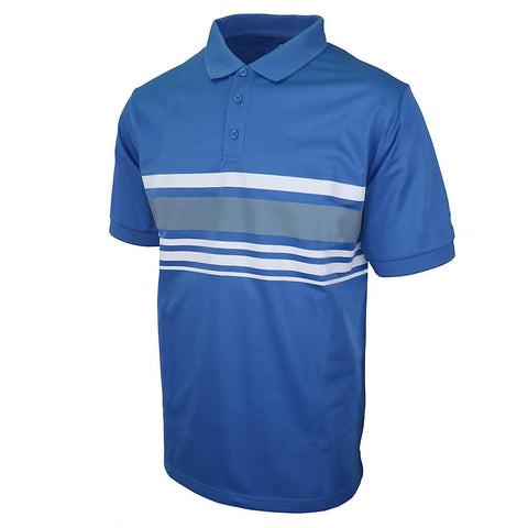 Island Green Chest Stripe Polo Blue/Charcoal