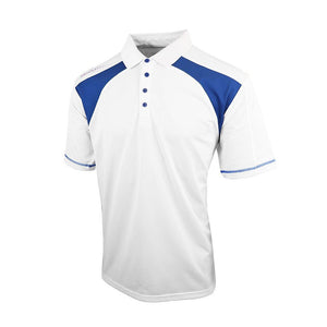 Island Green Contrast Quick Dry Polo Shirt White Blue