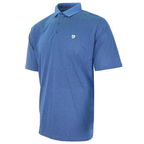 Island Green Honeycomb Polo Blue