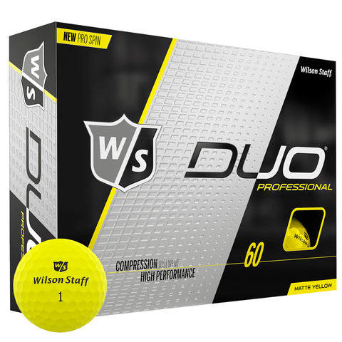 Wilson Staff Duo Professional Matte Yellow Golf Balls - Dozen