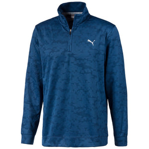 Puma ALTERKNIT DIGI CAMO 1/4 Zip Dark Denim