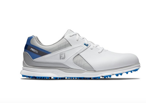 Footjoy 2020 Pro SL Golf Shoes - White/Grey/Blue