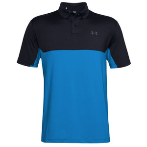 Under Armour Performance 2.0 Colourblock Polo Black Electric Blue