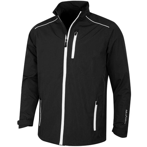 Island Green Waterproof Full Zip Jacket BLACK/WHITE