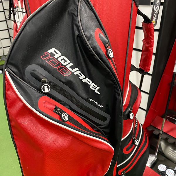 iCart Aquapel 100 14 Way Cart Bag Red/Black