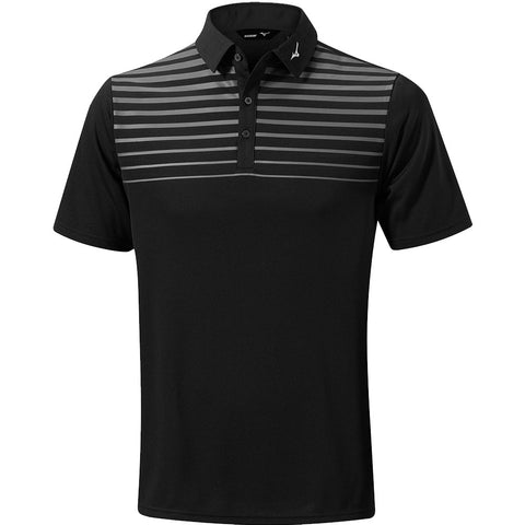 Mizuno Breath Thermo Pattern Polo Black