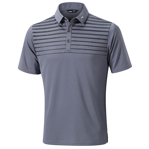 Mizuno Breath Thermo Pattern Polo Grey