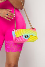 Rainbow Chevron Jelly Bag - Fashion House USA