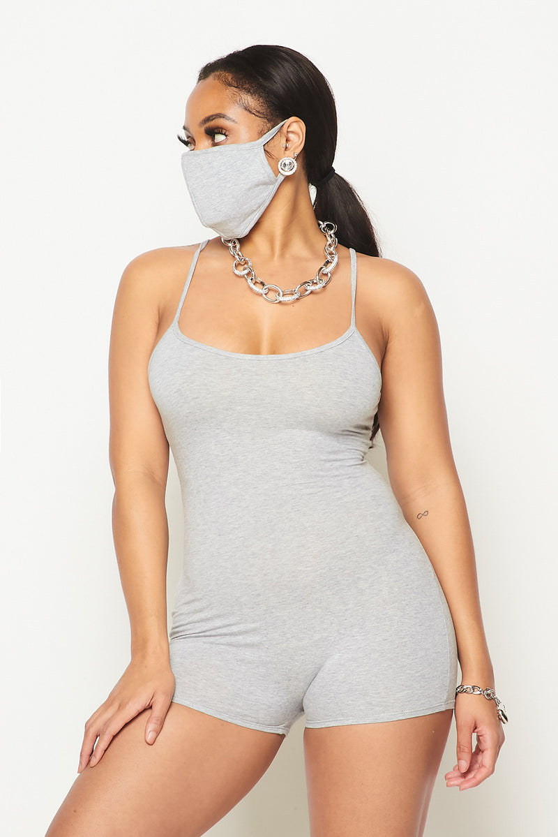 Summer Romper w/Mask - Fashion House USA