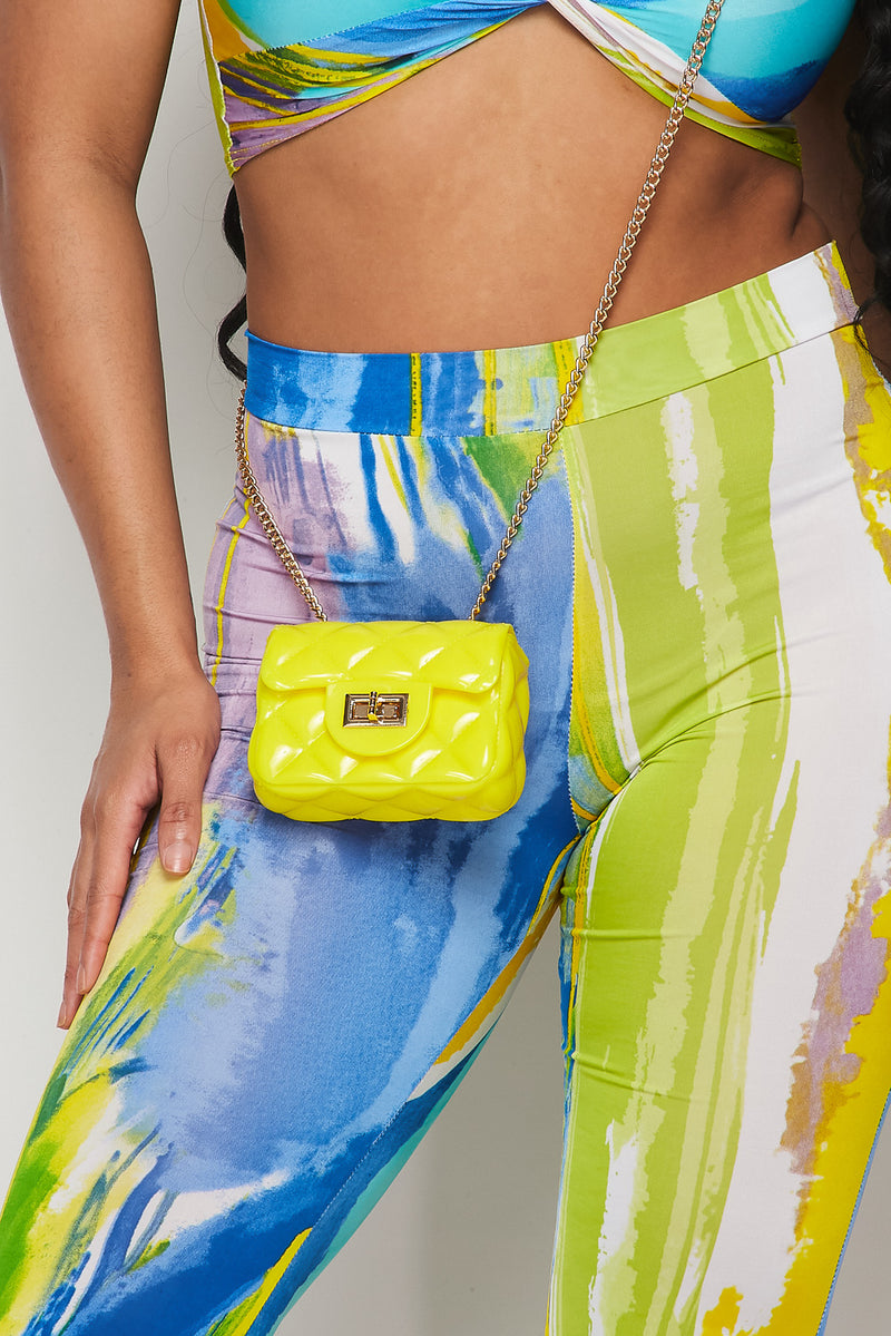 X-Small Mini Jelly Crossbody Handbag-YELLOW - Fashion House USA