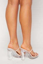 Transparent Mule Block Heel - Fashion House USA