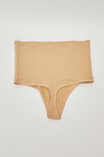 ONE SIZE HIGH WAIST THONG-NUDE - Fashion House USA
