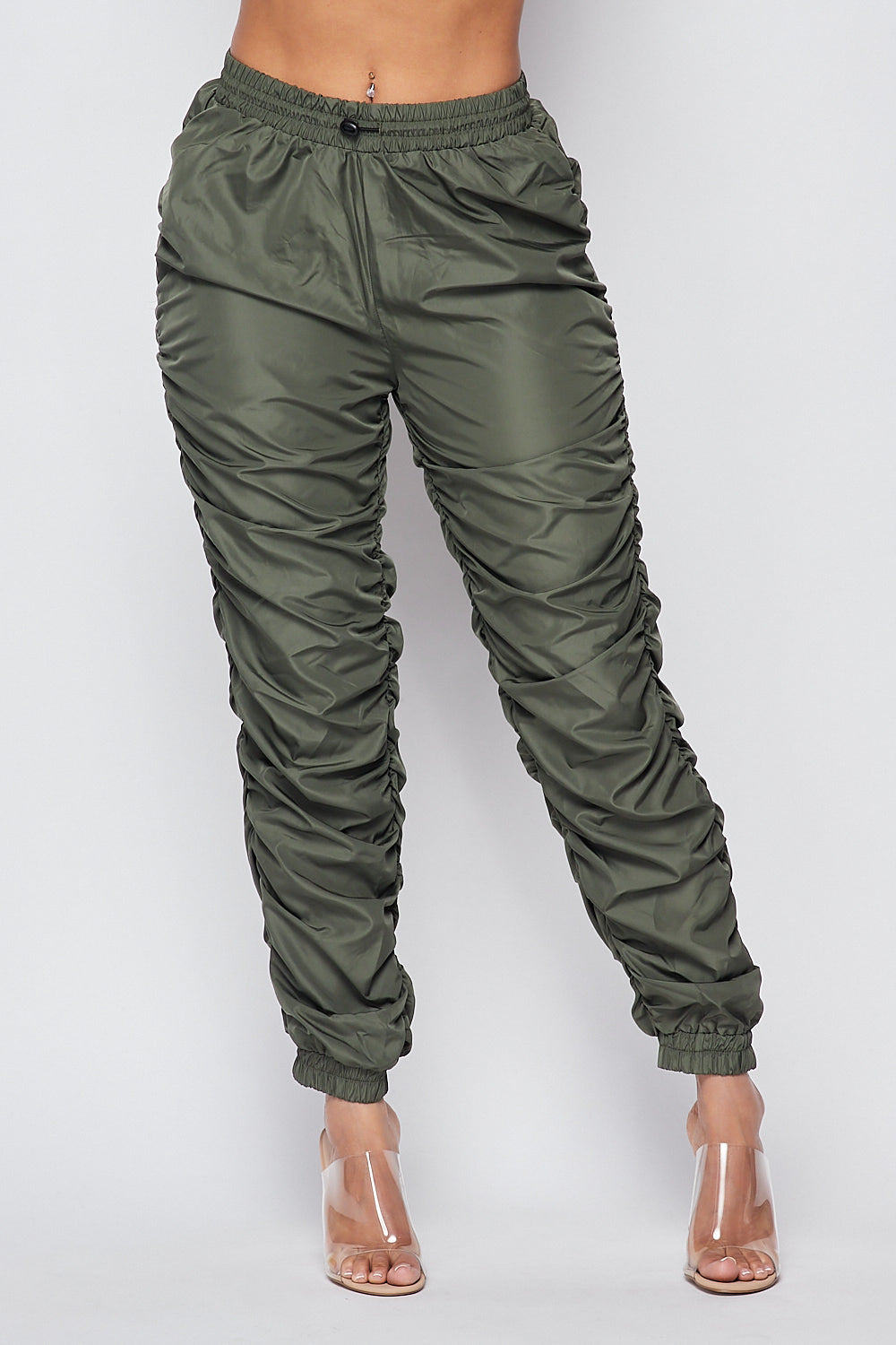 Sexy Fitted Jogger Pants-OLIVE - Fashion House USA