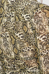 Baby Wild Snake Print Button Down in Olive