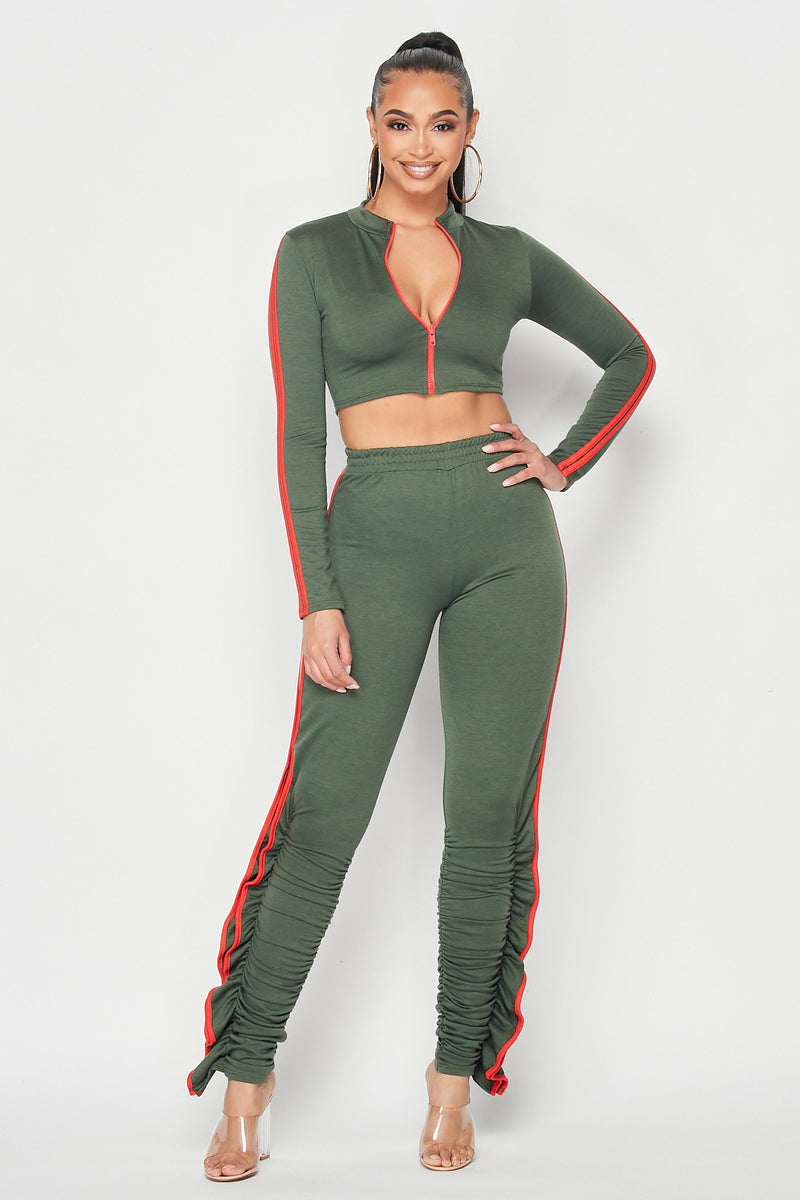 Baby How You Get So Fly Set in Olive - Fashion House USA