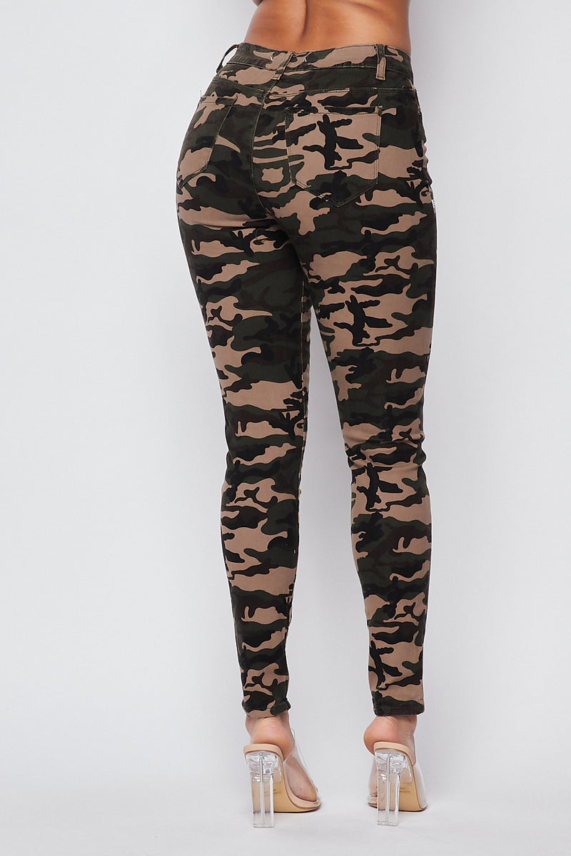 Sexy Camouflage Skinny Jeans - Fashion House USA