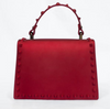 Rebel Studded Faux Leather Handbag -RED - Fashion House USA