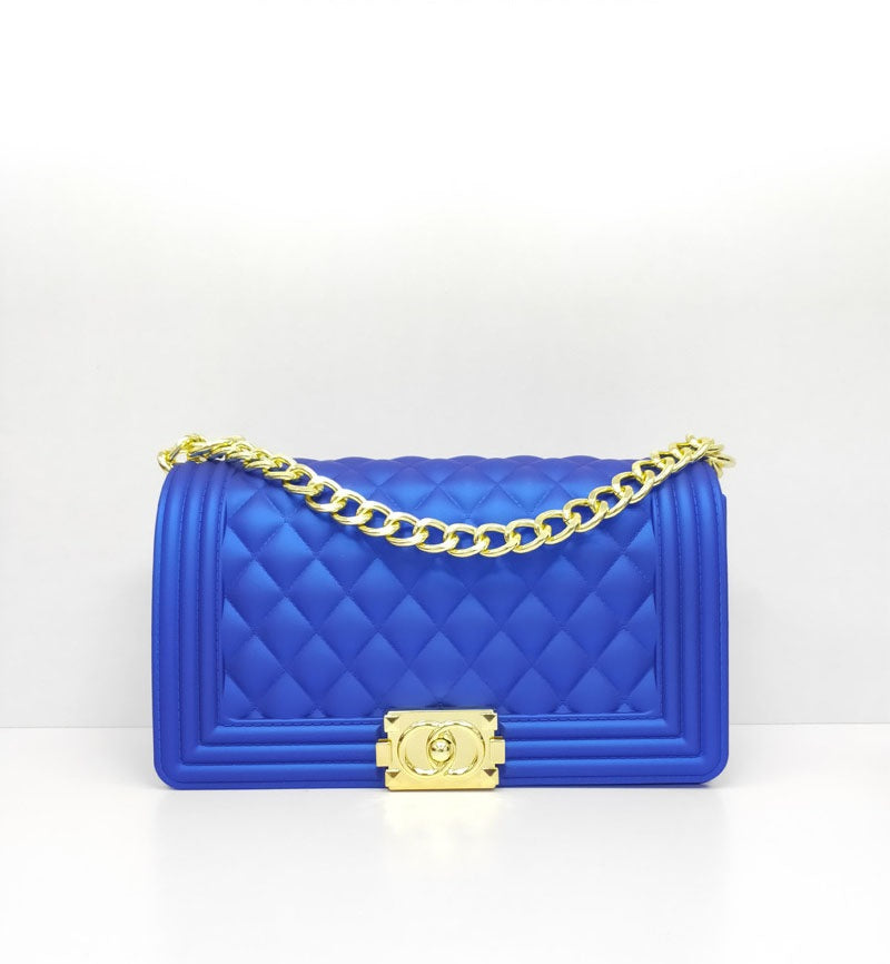 Ladylike Quilted Handbag-ROYAL - Fashion House USA