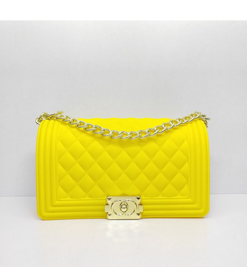 Ladylike Quilted Handbag-YELLOW - Fashion House USA