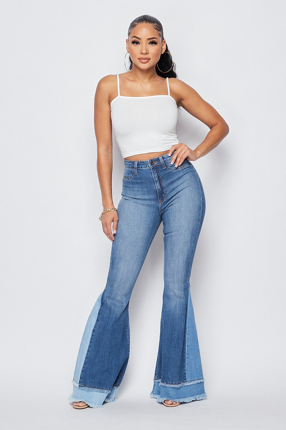 Sexy Bell Bottoms High Waist w/contrast - Fashion House USA