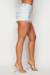 High Waist Distressed Washed Shorts - Fashion House USA