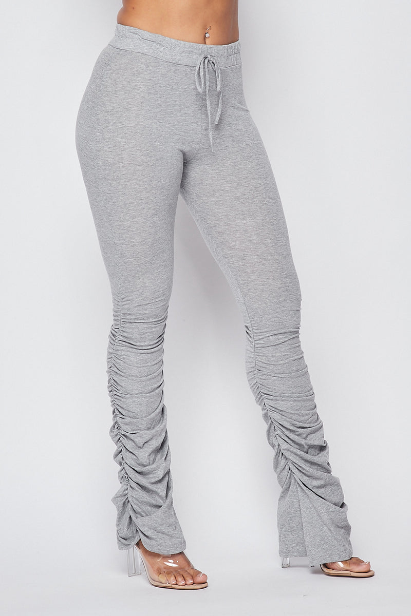 Sexy Front Tie Ruched Pants-H.GREY - Fashion House USA