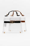 Clear Mini Satchel Bag - Black - Fashion House USA