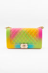 Fold Over Rainbow Quilt Bag - Fashion House USA