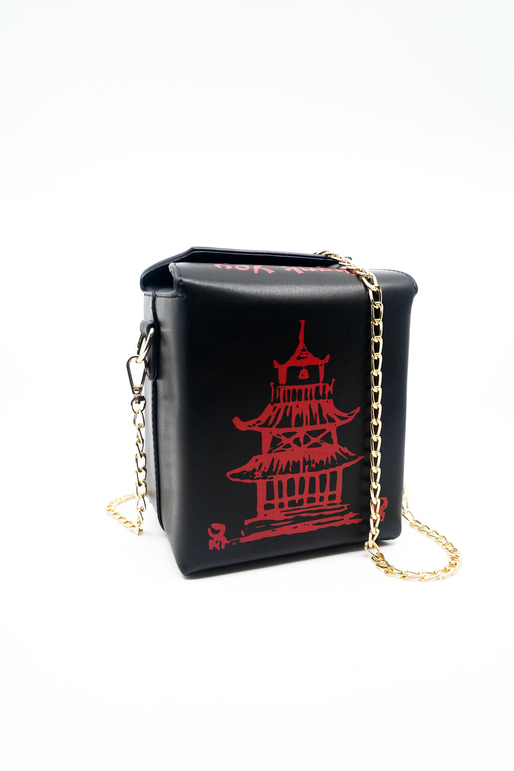 Chinese Take Out Box Cross Body Shoulder Bag in Black - Fashion House USA