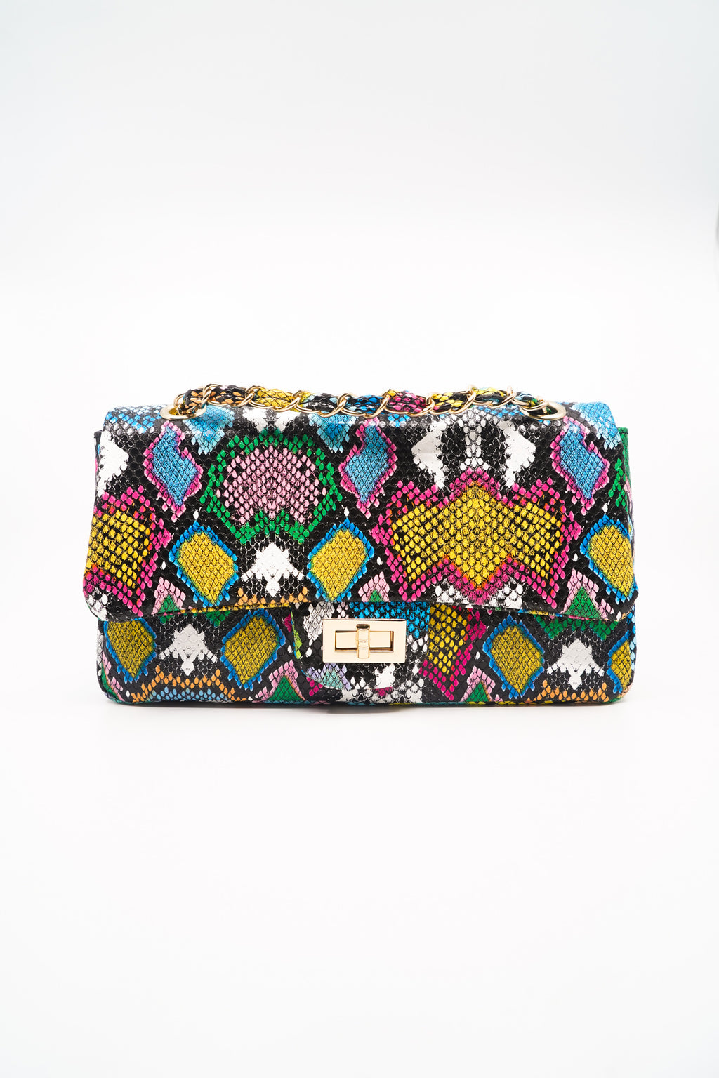 Multi Color Snakeskin Shoulder Bag - Fashion House USA