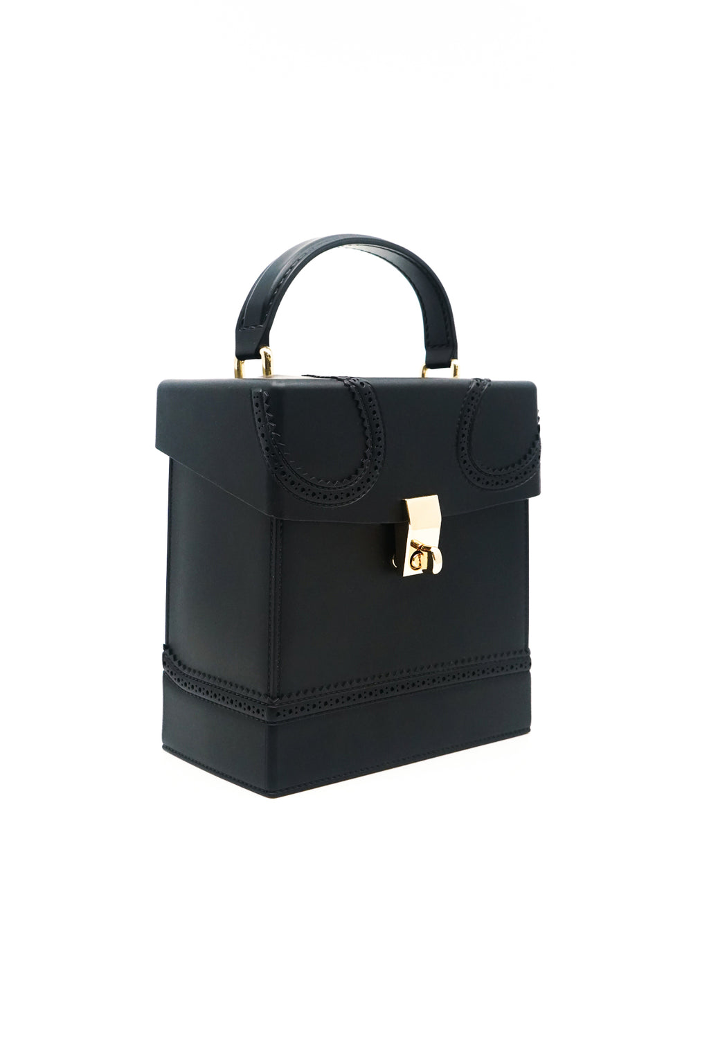 Square Box Jelly Handbag with Handle and Strap in Black - Fashion House USA