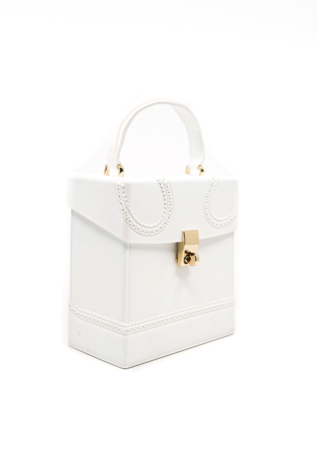 Square Box Jelly Handbag with Handle and Strap in White - Fashion House USA