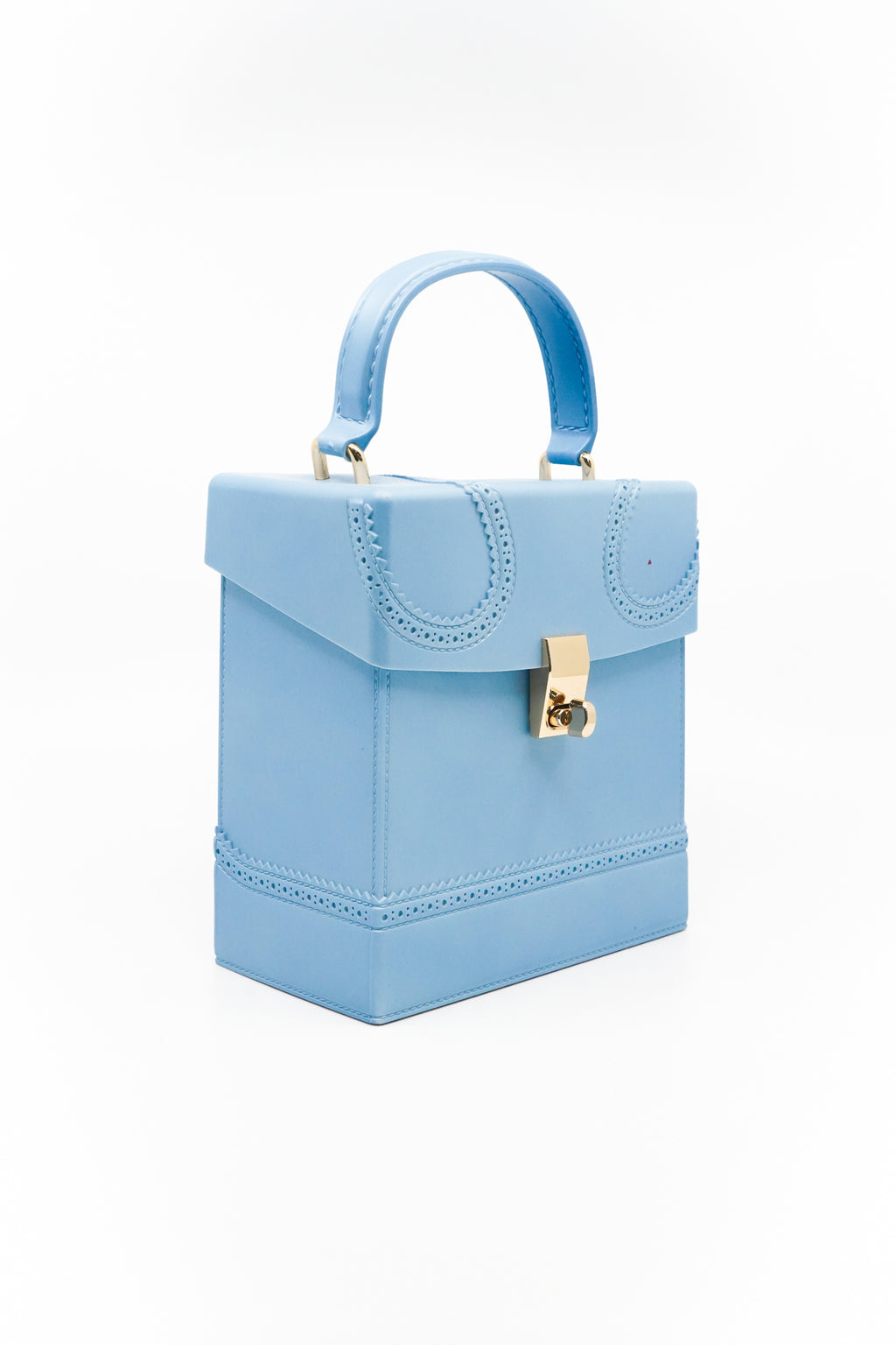 Square Box Jelly Handbag with Handle and Strap in Blue - Fashion House USA