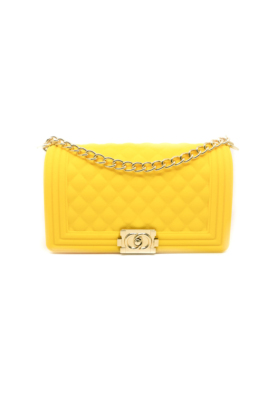 Quilted Crossbody Jelly Bag in Yellow - Fashion House USA