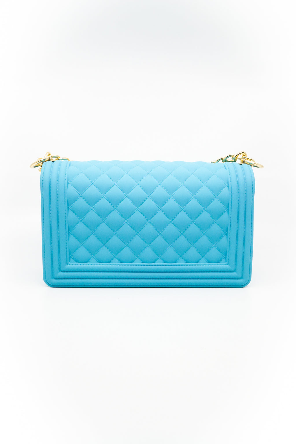 Quilted Crossbody Jelly Bag in Mint Blue - Fashion House USA