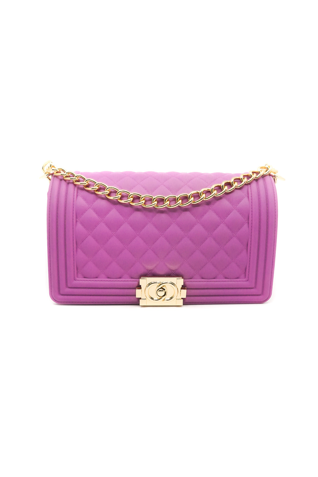 Quilted Crossbody Jelly Bag in Fuchsia - Fashion House USA