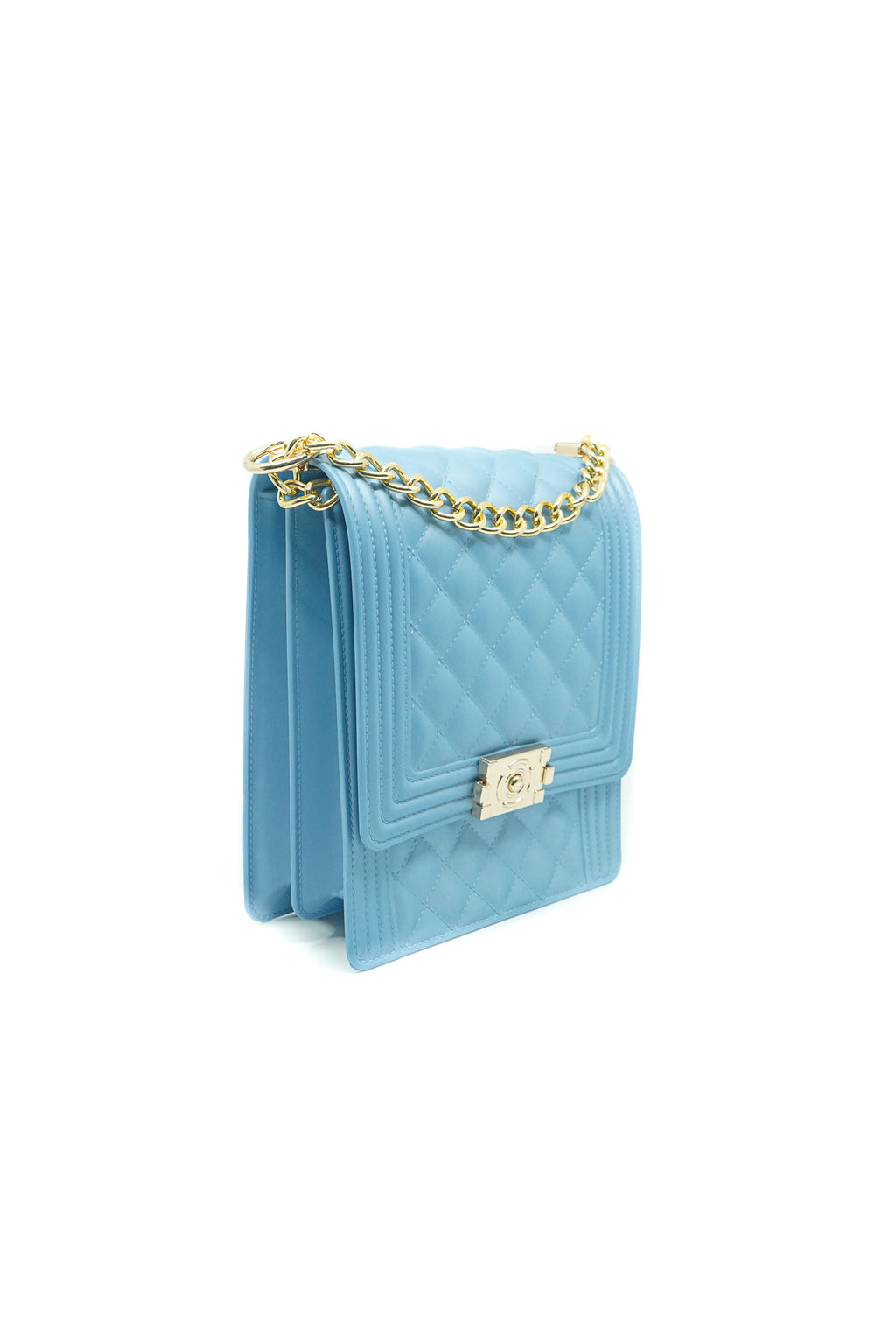 Rectangle Quilted Jelly Bag in Blue - Fashion House USA