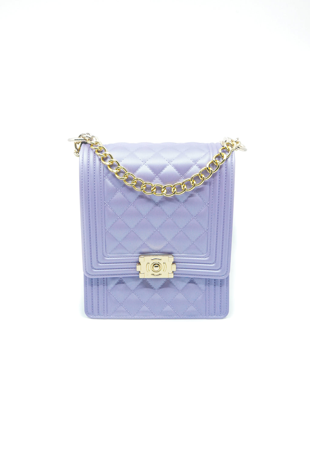 Rectangle Quilted Jelly Bag in Lavender - Fashion House USA
