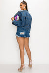 Faux Fur Pocket Denim Jacket - Fashion House USA
