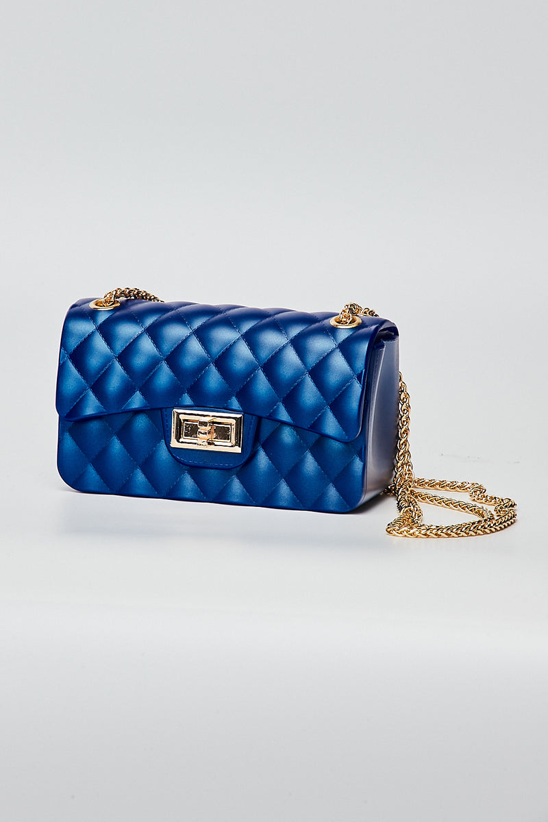 Mini Quilt Jelly Bag-ROYAL BLUE - Fashion House USA
